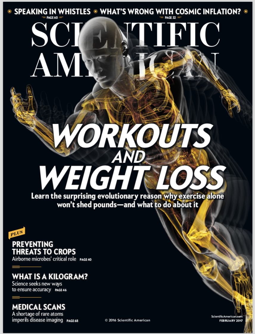 Scientific-American article about exercise and burning calories. Astounding information!