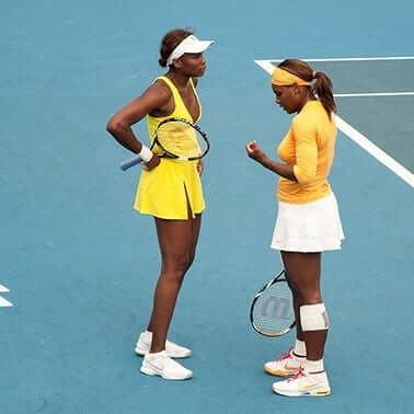 different body types of Williams sisters tennis players