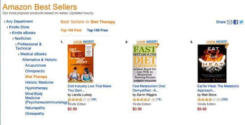 Lianda's book Diet Industry Lies hits #1 on Amazon