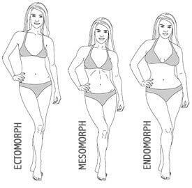women's 3 body types
