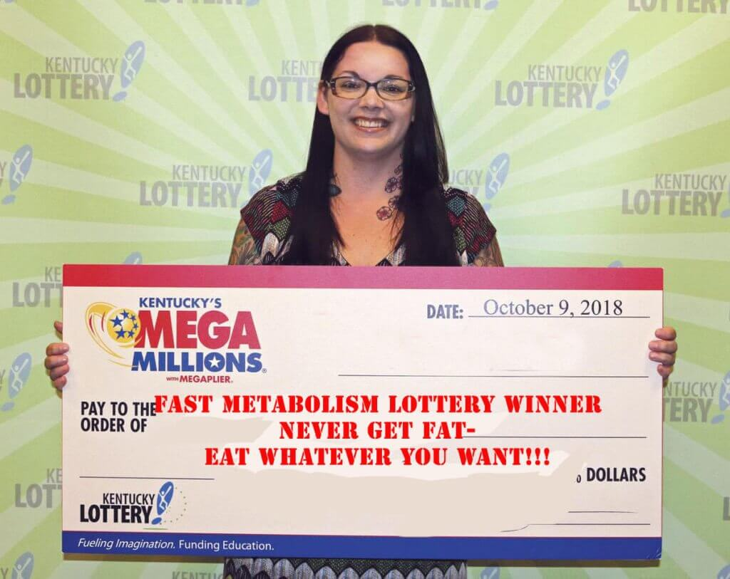 Woman Wins The Metabolism Lottery