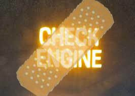 bandaid over check engine light