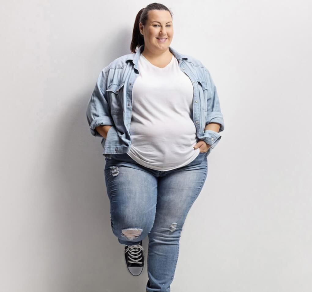 Confident Plus Size Woman