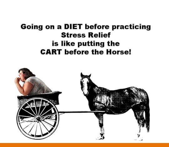 dieting before stress relief is cart in front of the horse